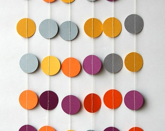 Adult party decoration, Adult birthday, paper garland, Birthday decorations, Birthday party decor, Circle paper garland, KC-1078