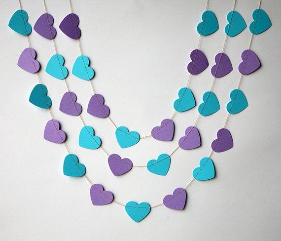 0532b6162161 Bridal shower decor Heart garland Valentines day decor