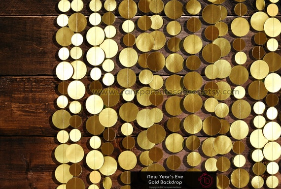 New Years Eve Decorations Gold Photo Backdrop New Years Party