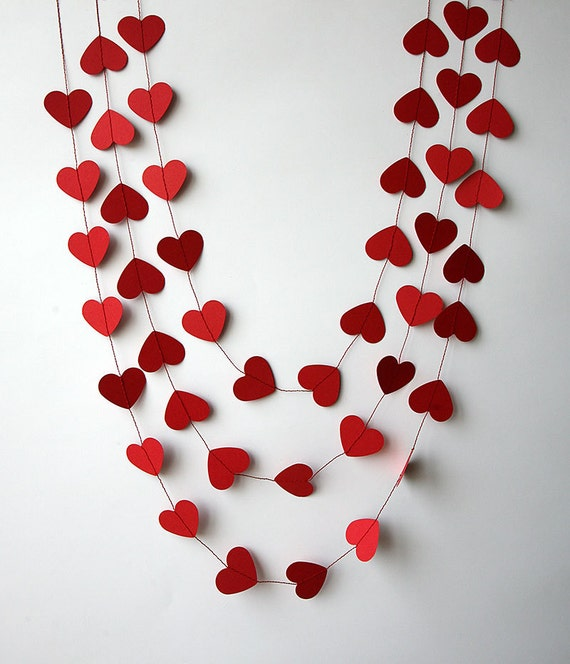 Valentines Day Decor Valentine Decor Heart Garland Etsy