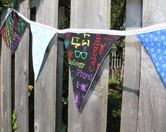 Bunting / Atomic DNA / Science Decor / Garland / Dorm Decor