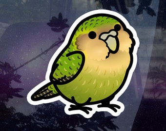 """Chubby Kakapo 3.5"""" Sticker [Outdoor Quality] Charity Listing"""