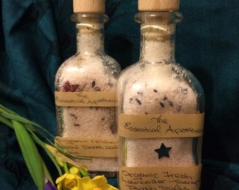 Organic Bath Soak with Blended Therapeutic Salts, Dried Flowers and Essential Oils