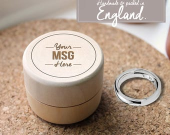 Personalised Wedding Ring Box MESSAGE  - Wooden Ring Box - Couples Gift - Wedding | Handmade in England | FREE SHIPPING!!