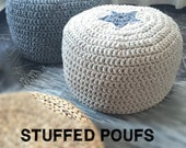 Stuffed Crochet Poufs - Add on to ship your Pouffe Ottoman Cover Filled with Polystyrene Beads