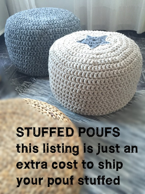 Wondrous Stuffed Crochet Poufs Add On To Ship Your Pouffe Ottoman Cover Filled With Polystyrene Beads Short Links Chair Design For Home Short Linksinfo