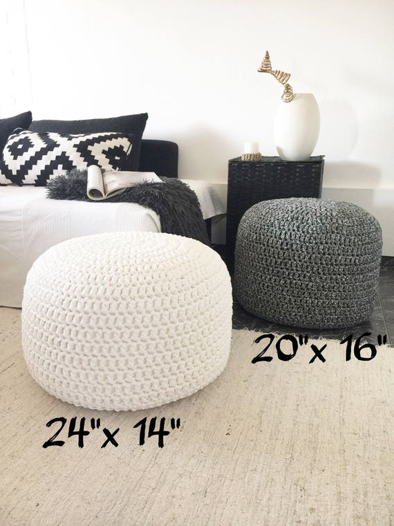Excellent Stuffed Crochet Poufs Add On To Ship Your Pouffe Ottoman Cover Filled With Polystyrene Beads Short Links Chair Design For Home Short Linksinfo