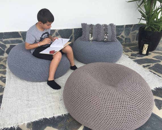 Wondrous Oversize Ottoman Round Coffee Table Xxxl Floor Pillow Seating Giant Pouf Daybed Cushion Large Knit Pouffe Bean Bag Chair New Home Gift Andrewgaddart Wooden Chair Designs For Living Room Andrewgaddartcom