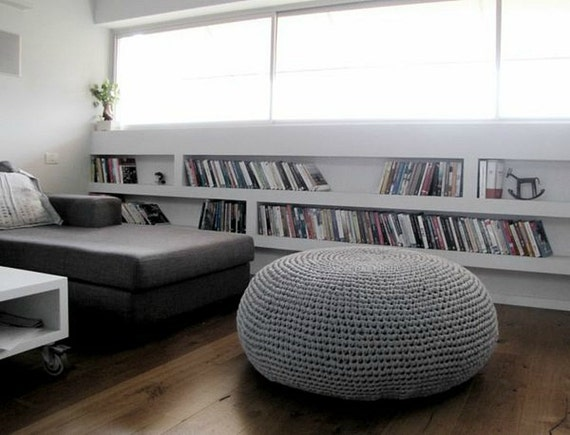 Giant Pouf Ottoman Extra Large Floor Cushion Bean Bag