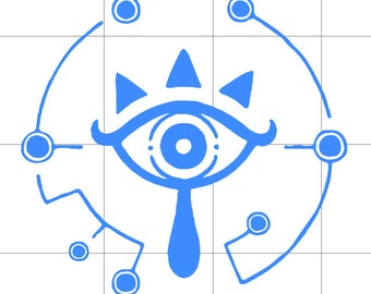 Sheikah Eye  Decal Legend of Zelda: Breath of the Wind