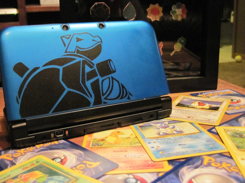 Blastoise Vinyl Decal  Pokemon  Vinyl Decal Gamer Gift Car image 0