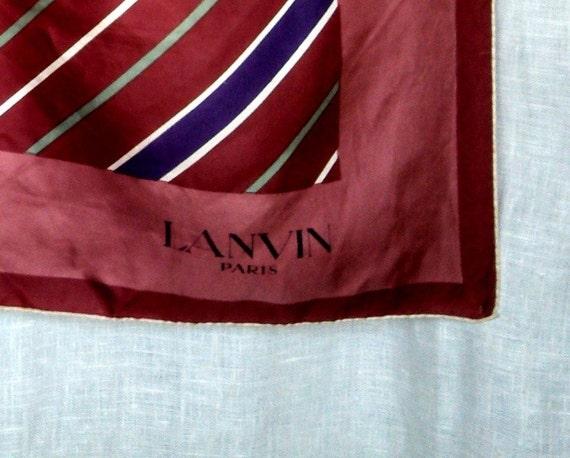 Vintage 70's Lanvin Striped Scarf - image 2