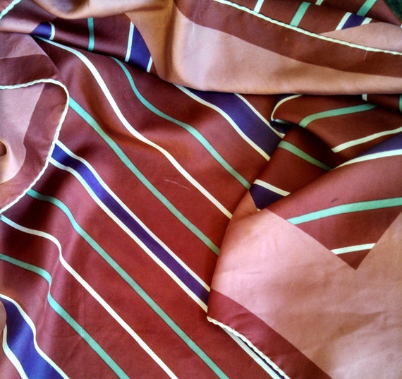 Vintage 70's Lanvin Striped Scarf - image 4