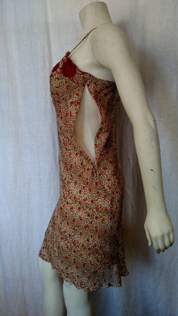 90s Rose 'n Cheetah Slip Dress - image 4