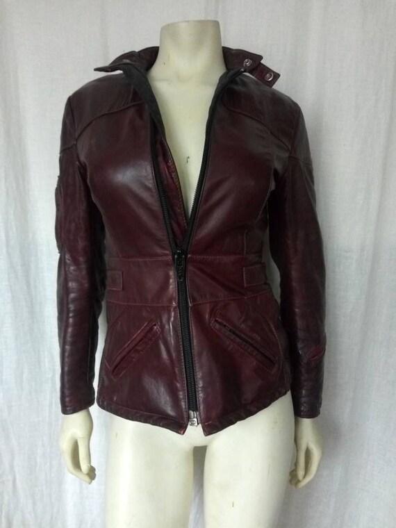 70s Oxblood Moto Jacket