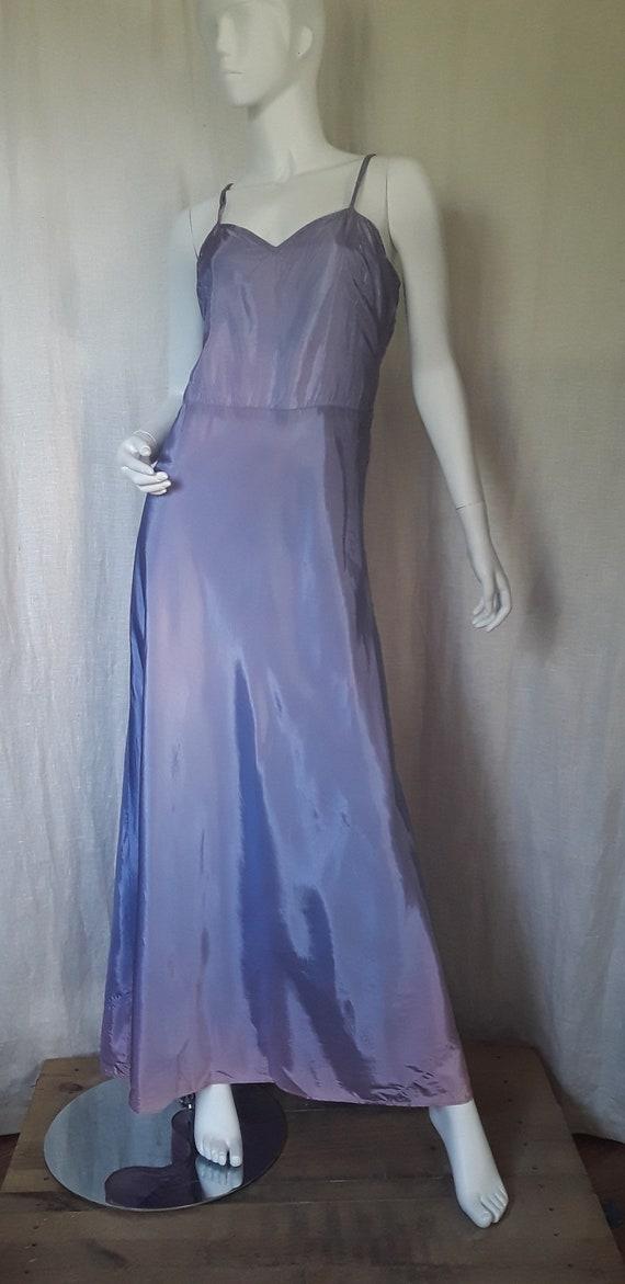 40s Ombré Taffeta Slip Dress