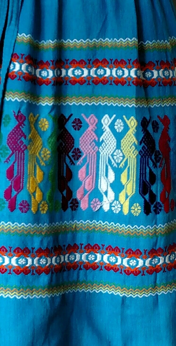 70s Tribal Embroidered Dress - image 2