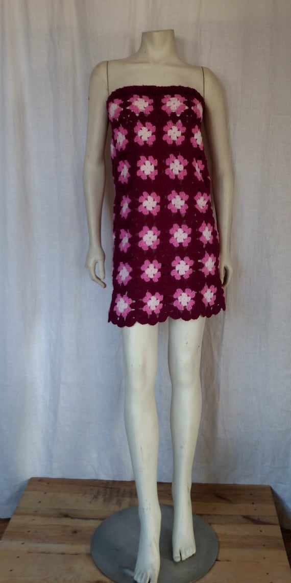 Vintage 70s Crochet Skirt-to-Dress