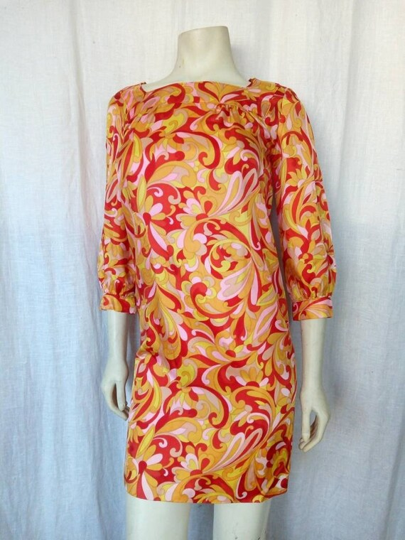 Swinging 60s Psychedelic Minidress