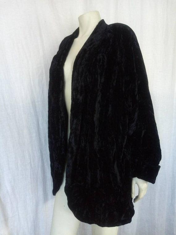 80s Crushed Velvet Gothic Coat