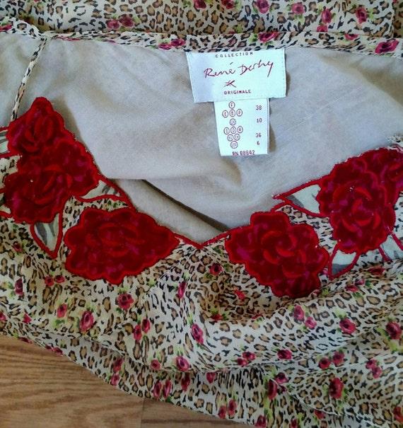 90s Rose 'n Cheetah Slip Dress - image 5