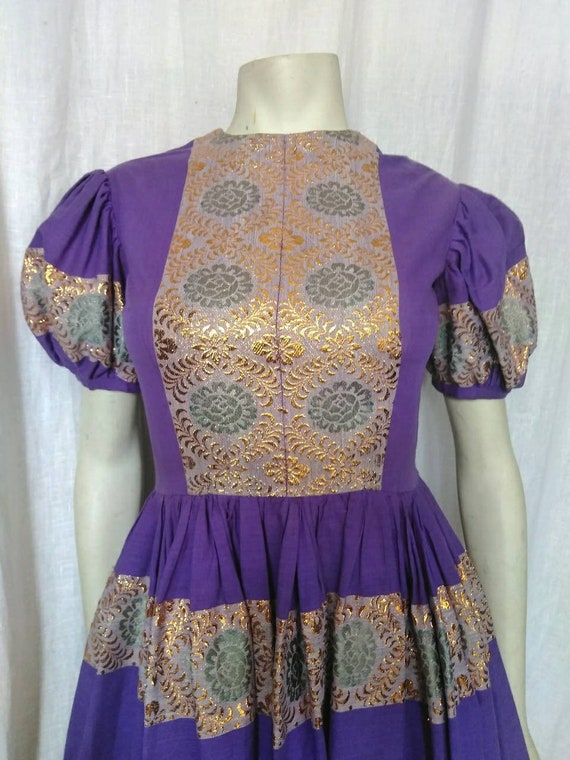 50s Folk-meets-Couture Frock