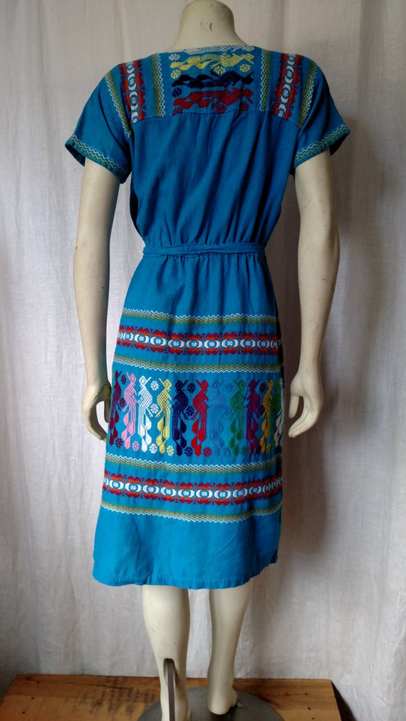 70s Tribal Embroidered Dress - image 4