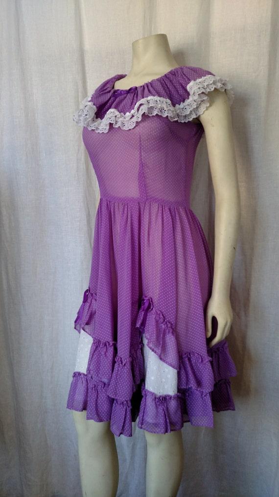 Vintage 50's Rockabilly Dotted Dress