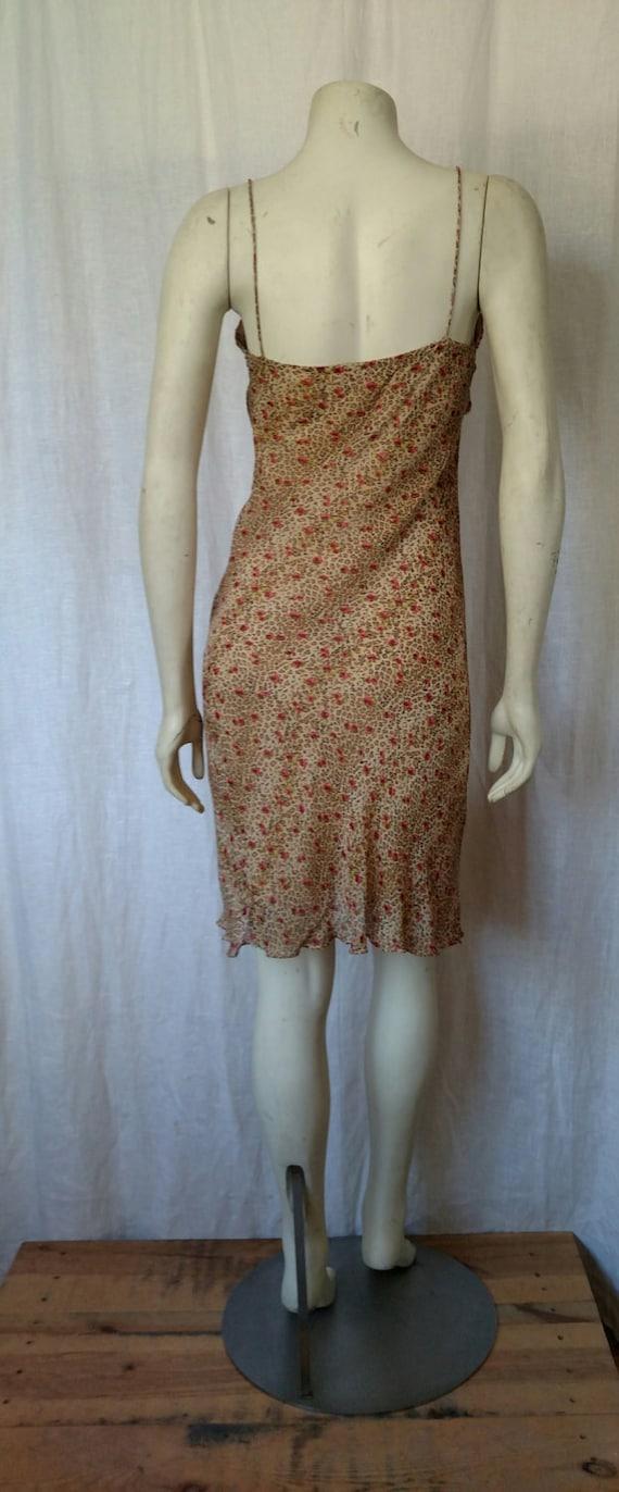 90s Rose 'n Cheetah Slip Dress - image 3