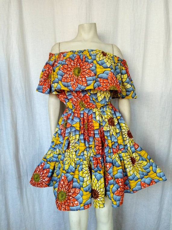 80s Caribbean Dancehall Dress