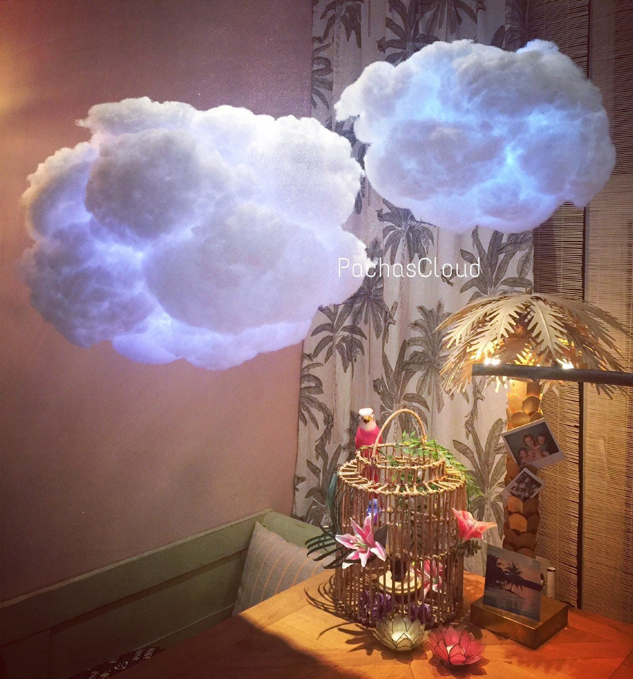 Cloud Light Large With Battery Operated Multicolor Led Light Remote
