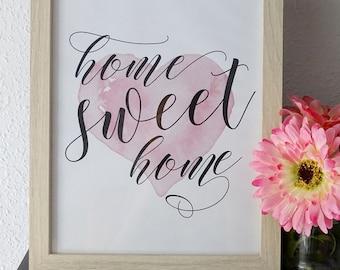 """Lámina para imprimir """"Home Sweet Home"""""""