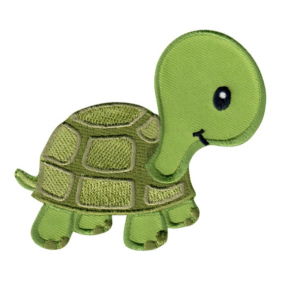 9 Baby Turtles Iron On Fabric Appliques