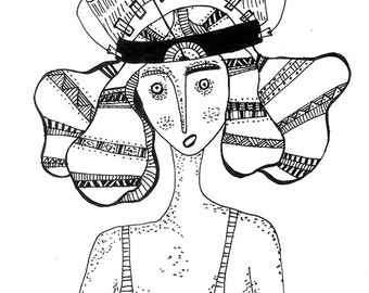 BIOFEEDBACK, Black and white print, Archival paper, Girl print.