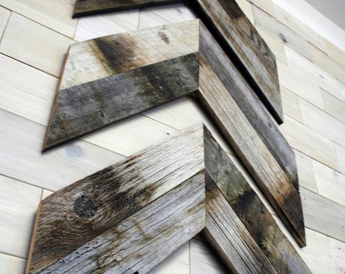 Barn Wood Chevron Wall Decor [set of 3]