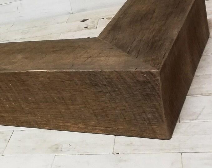 Fireplace Box Mantel | Barn Wood - Tobacco Oak | choose your size