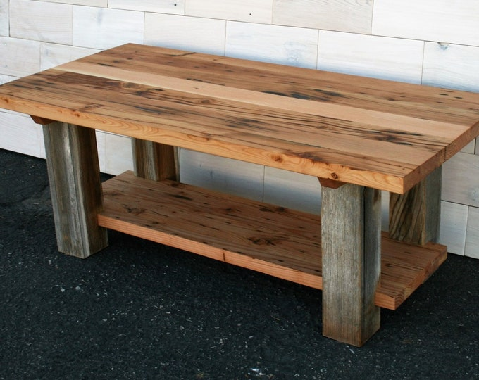 Reclaimed Fir and Barn Wood Coffee Table | Dichotomy Design | multiple sizes