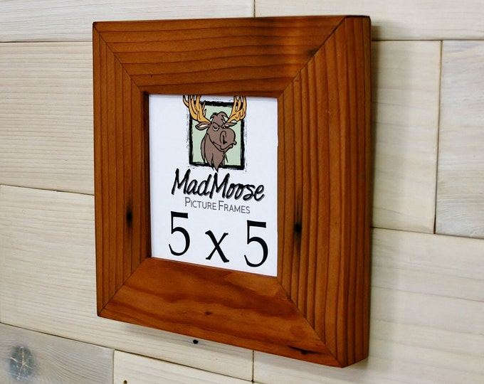 5x5 Reclaimed Redwood Picture Frame - Classic 2""