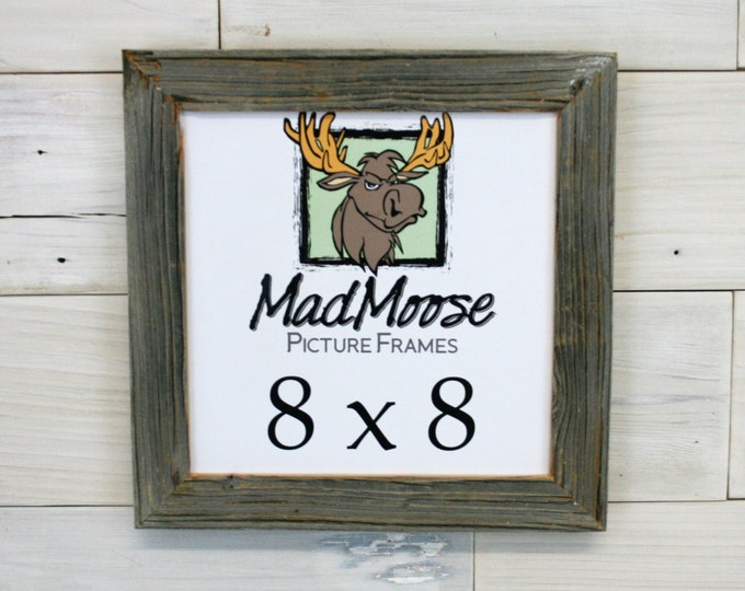 8x8 BarnWood Picture Frame - Classic 1.25""