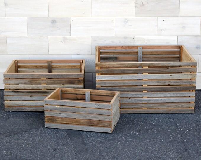 Nesting Barn Wood Slat Crate | set of 3 crates