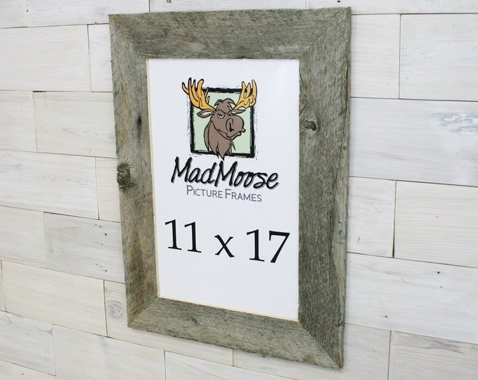 """11x17 Barn Wood Picture Frame - Classic 3"""""""