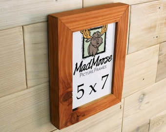 """5x7 Reclaimed Redwood Picture Frame - Classic 1.25"""""""