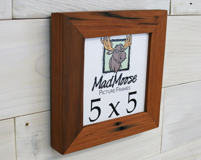 5x5 Reclaimed Redwood Picture Frame - Classic 1.25""