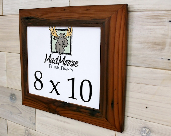 8x10 Reclaimed Redwood Picture Frame - Inclined 2""