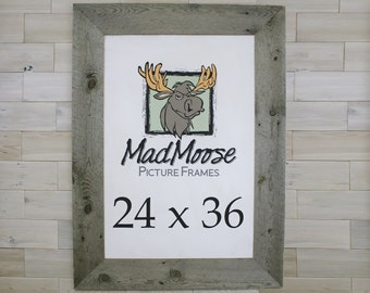 """24x36 Barn Wood Picture Frame - Classic 5"""""""
