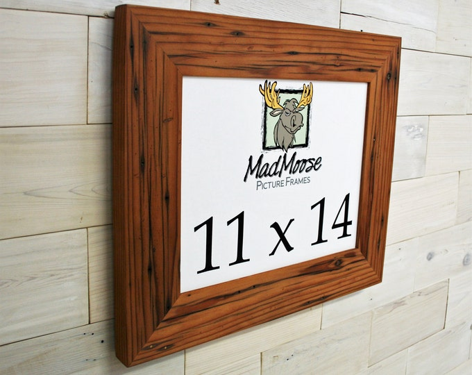 """11x14 Reclaimed Redwood Picture Frame - Classic 3"""""""