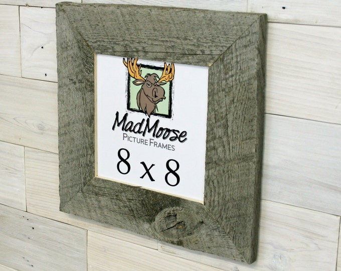 """8x8 BarnWood Picture Frame - Classic 3"""""""