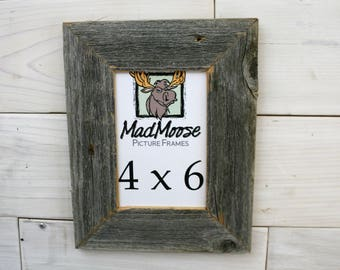 "4x6 BarnWood [Thin x 2""] Picture Frame"