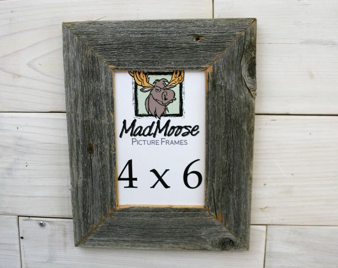 4x6 BarnWood Picture Frame - Classic 2""