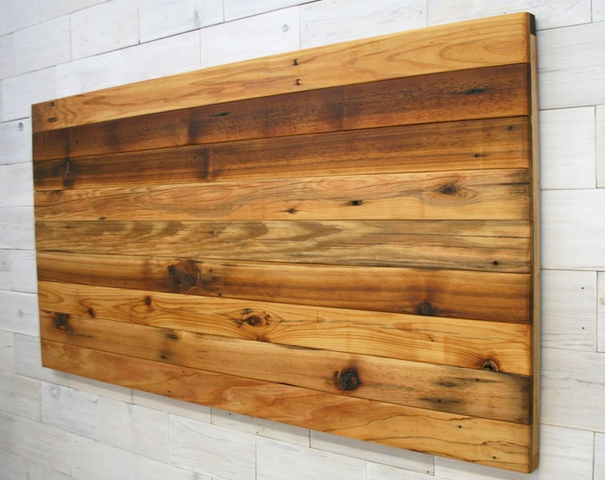 Reclaimed Wood Hanging Headboard Panel | all bed sizes | Remilled Horizon Design